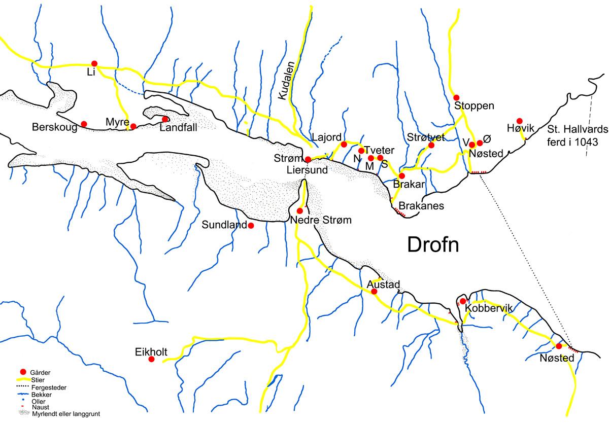 Kart Over Drammen I Vikingtida